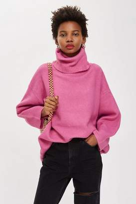 Topshop Oversized Roll Neck Jumper