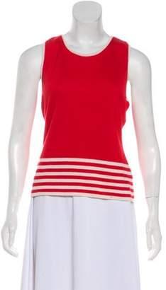 Oscar de la Renta Cashmere and Silk Sweater Red Cashmere and Silk Sweater