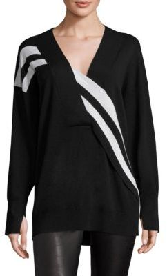 Rag & Bone Grace Striped Merino Wool Sweater $395 thestylecure.com
