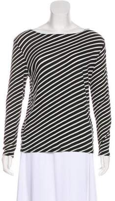 R 13 Striped Long Sleeve Top