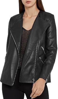 Reiss Marrisa Leather Biker Jacket