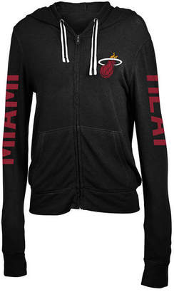 5th & Ocean Women's Miami Heat Sweater Knit Full-Zip Hoodie