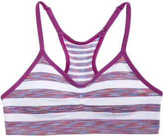 Maidenform Ruched Striped Seamless Crop Bra, Little & Big Girls