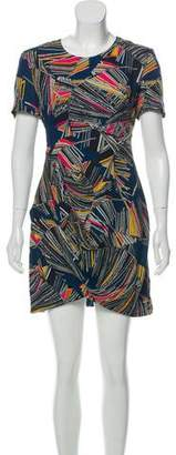Matthew Williamson Printed Mini Silk Dress