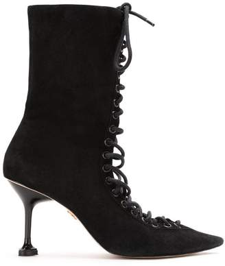 Andrea Bogosian suede lace up boots