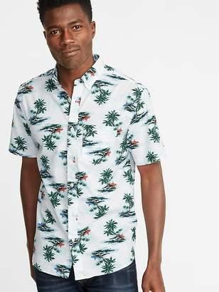 Old Navy Slim-Fit Printed Built-In Flex Everyday Shirt for Men