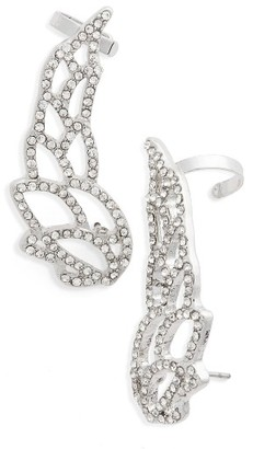 Women's Topshop Crystal Wing Ear Climbers $22 thestylecure.com
