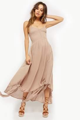 Forever 21 Smocked High-Low Halter Dress