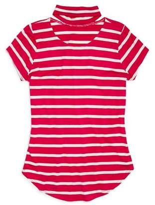 Aqua Girls' Striped Choker Tee, Big Kid - 100% Exclusive