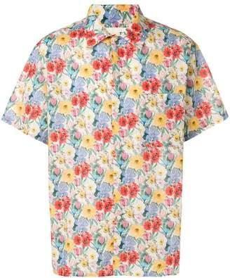 R 13 floral short-sleeve shirt