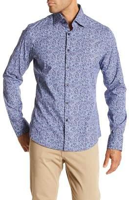 Stone Rose Paisley Print Slim Fit Shirt