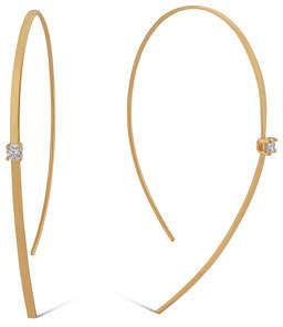 Lana 14k Solo Hooked On Hoop Diamond Earrings