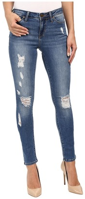 Calvin Klein Jeans Rip & Repair Ultimate Skinny in Classic Blue $89.50 thestylecure.com