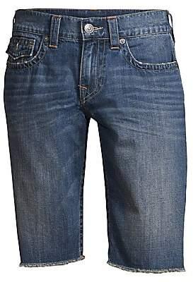 True Religion Men's Ricky Frayed Cuff Jean Shorts