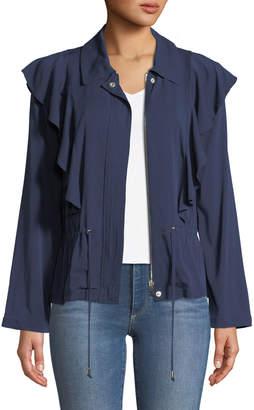 Laundry by Shelli Segal Ruffle-Front Twill Jacket