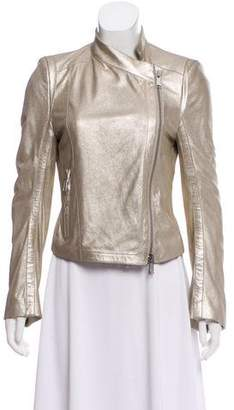 Ann Demeulemeester Structured Leather Jacket