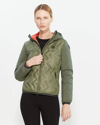Blauer Zigzag Quilted Down Jacket