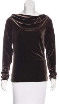 Lauren Ralph Lauren Long Sleeve Velvet Top