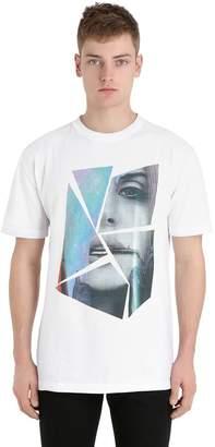 Esprit (エスプリ) - Esprit D'equipe Milan Limit.ed Face Printed Cotton T-Shirt