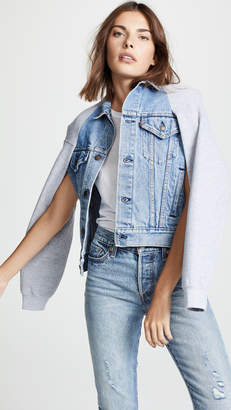 Harvey Faircloth Cape Sleeve Denim Jacket