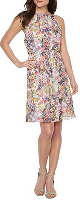 Chetta B BE BY Be by Sleeveless Floral Fit & Flare Dress