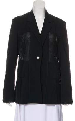 Jason Wu Lace-Trimmed Long Sleeve Jacket