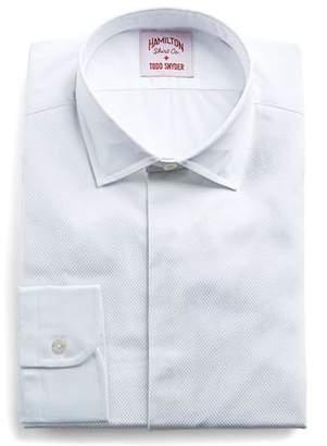 Hamilton White Pique Tuxedo Front Shirt