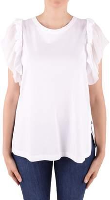 N°21 N.21 Frilled Cotton T-shirt