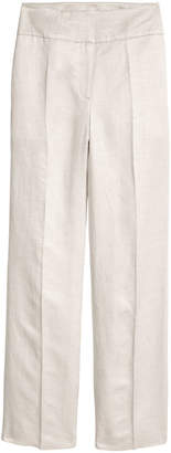 H&M Linen-blend Suit Pants - White