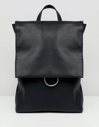 Asos Design DESIGN ring flap backpack
