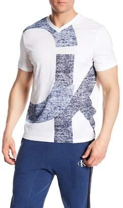Calvin Klein V-Neck Overlap Printed Tee