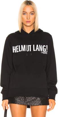 Helmut Lang Exclamation Hoodie in Black Basalt | FWRD