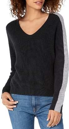 Michael Stars V-Neck Color-Block Sweater