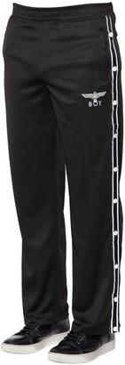 Boy London Nylon Track Pants W/ Side Snaps