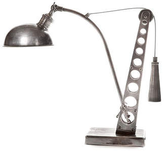 Bolton 51cm Desk Lamp in Antique Silver