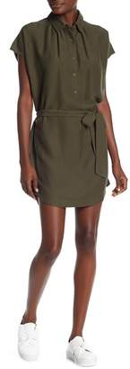 David Lerner Waist Tie Shirt Dress