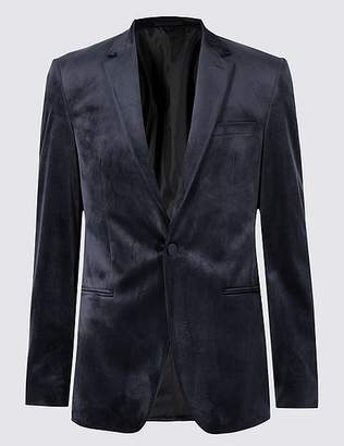 Marks and Spencer Navy Velvet Jacket