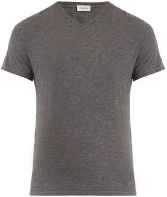 American Vintage Jacksonville V-neck cotton-blend T-shirt