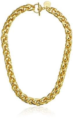 Unoaerre 1AR by 18k -Plated Herringbone Link Necklace