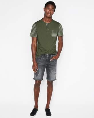Express Slim 9 Inch Gray Destroyed Denim Shorts