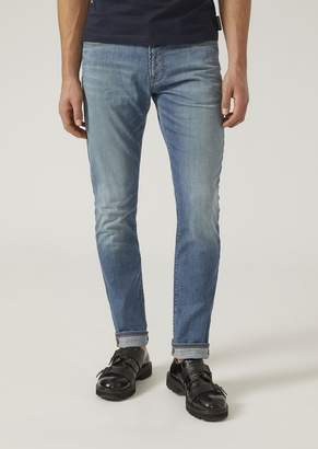 Emporio Armani J18 Skinny Stone Washed Jeans