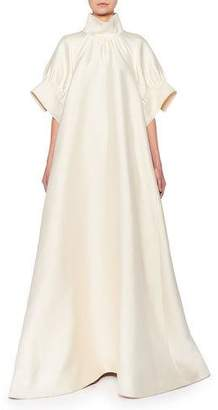 The Row Alba Mock-Neck Silk Gown