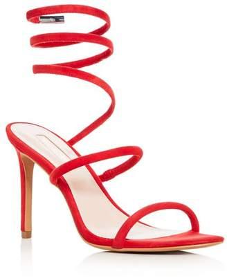 AVEC LES FILLES Women's Joia Suede Ankle Wrap High-Heel Sandals