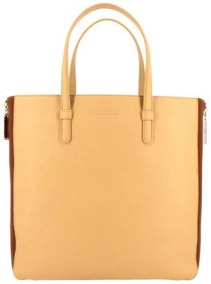 Elisabetta Franchi Tote Bags Tote Bag In Bicolor-effect In Synthetic Leather With Double Zip