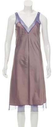 Calvin Klein Collection Mesh-Accented Midi Dress