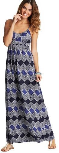 LOFT Petite Diamond Print Criss Cross Back Maxi Dress