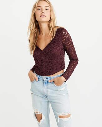 Abercrombie & Fitch Lace Button-Front Blouse
