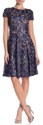 Marina Fit & Flare Cap Sleeves Dress