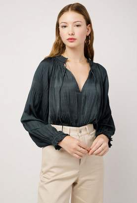Azalea Tie Collar Top