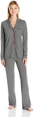 Cosabella Women's Bella Texture Long Sleeve Top Pant Pj Set